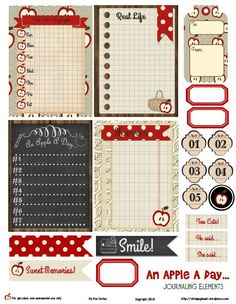 fall apple jcs preview Free Printable Download An Apple A Day Journaling Elements