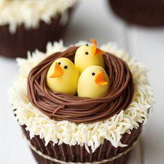 Cupcakes au chocolat de Pâques