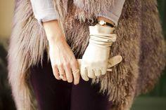 Streetstyle en eventos de navidad: guantes