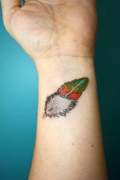 Lorikeet feather tattoo