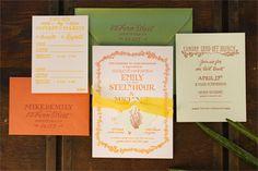 Oh So Beautiful Paper: Emily + Mike's Desert Botanical Wedding Invitations
