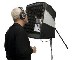 """Your Bedroom Vocal Recording Studio comes true  Rugged 600 denier fabric / Only 7 pounds / Air travels as checked or carry-on luggage 120% larger than the Porta-Booth Plus / Unique sonic stage """"Auditorium"""" design. All interior surfaces treated with Auralex Acoustics Studiofoam #1 choice recording pros worldwide 2 way zippered bottom and rear slots for shot-gun mics cables boom arms. Corner straps add rigidity Anti-sway strap & Booth Lifter for boom arm mounting. Assembles in seconds Just…"""