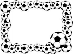 FREE GIVEAWAYS with this page!!   This printable soccer clipart paper frame is ideal for your World Cup invitations, scrapbook page or as a picture frame matte! Simply print and trim!