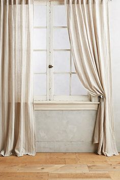 Striped Linen Curtain - anthropologie.com (for second bedroom closet)