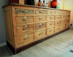 Ancien meuble de métier à tiroirs 1900 | INduStriAL | Pinterest ...