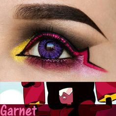 """To go with yesterday's post here's Garnet! """"I am their fury I am their patience I am a conversation""""  Products used: Brows: @anastasiabeverlyhills Dipbrow Pomade in 'Ebony'  Bottom lash: @starcrushedminerals 'Burgundy Kisses' 'Magenta' 'Raspberry' Under Star: Nyx Jumbo Pencil in 'Oyster'  Pink Liner: @nyxukcosmetics Primal Hot Pink with @illamasqua Fixing Gel  Black liner: @nyxcosmetics Black Matte Liquid Liner  Lid: Nyx Black Gel Liner as base for Hot Black Primal Shadow  Inner Corner…"""