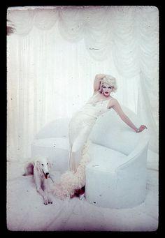 Marilyn as Jean Harlow by Richard Avedon, 1958.
