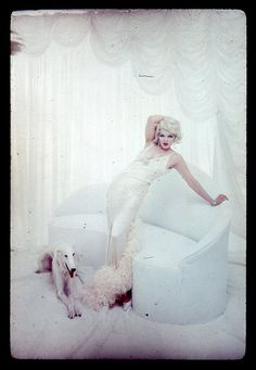 Marilyn as Jean Harlow by Richard Avedon, 1958.