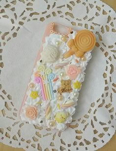 Coque iphone 6 / 6s decoden chantilly pêche par PrettyChantilly