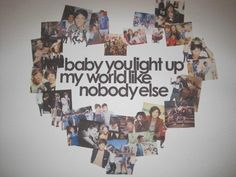 What Makes You Beautiful lyrics w/ One Direction collage sorry that needs to be on my wall *grace