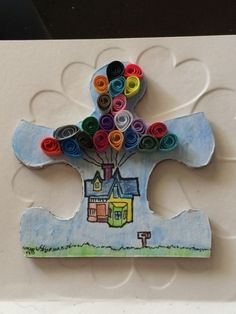 """""""Disney"""" for artmomto5 // Altered Puzzle Piece Swap Round 9 @ craftster.org"""