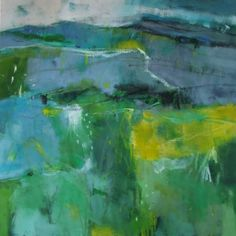 Andy Waite - Semi abstract expressionist landscape. Oil on Canvas.  £2,250  Location: Sussex