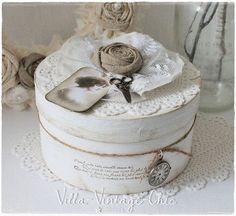 ♥ Schachtel Dose ♥  shabby french Nostalgie von Villa-Vintage-Chic auf DaWanda.com