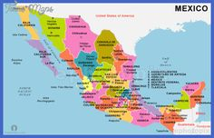 Mexico Map - http://toursmaps.com/mexico-map.html