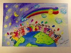 Watercolour - Illustration: International Day of Gifted Children 2015