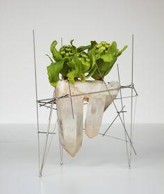 ikebana2013/03/24-1(Butterbur sprout & Crystal)