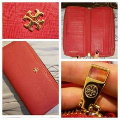 TORY BURCH 'YORK' CONTENNINTAL ZIP WALLET In mint condition. Tory Burch Bags Wallets