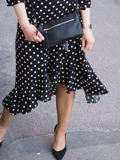 Polka dot dress @monavisuri  http://www.monasdailystyle.com/2018/06/01/viikonlopun-viettoon-kaksin/