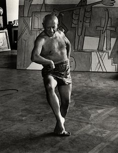 Picasso by David Douglas Duncan: Fantastic to see him dancing!!!