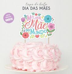 Bolo Moana, Happy Mom, Cake Toppers, Elsa, Birthday Cake, Pink, Food, Birthday Cake Decorating, Elegant Wedding Cakes