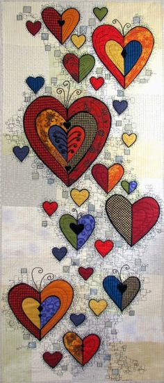 """""""Valentines: Ritual of Friendship"""" by Terry Grant (Portland, Oregon).  In: Rituals ~ Featured at International Quilt Market/Festival"""
