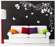 Schmetterlings Wandaufkleber Kindergarten Wandsticker Wanddekor Aufkleber Vinyl Vinylkunst Mauergemlde