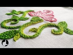 Embroidery Flower   Braided Chain Stitch by Hand   HandiWorks #8 - YouTube