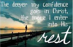 Father help me grow deeper in my confidence in Christ... #LiveFreeLoveWell 1-800-910-5060 BrokenChainsIntl.com