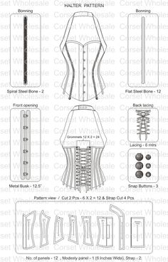 corset pattern - don't think I ll be ever doing this..just in case though                                                                                                                                                                                 More