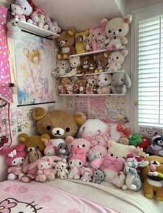 Room Design Bedroom, Room Ideas Bedroom, Bedroom Decor, Casas Shabby Chic, Kawaii Bedroom, Otaku Room, Cute Room Ideas, Pretty Room, Gamer Room