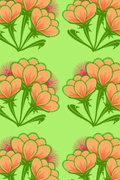 lotusy pattern by lilypadster. Color Patterns, Print Patterns, Africa Dress, Computer Wallpaper, Beautiful Patterns, Burnt Orange, Surface Design, Textile Art, Salmon