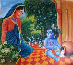 Buy Baby Krishna Size In Painting at Lowest Price by Ashutosh Mishra Krishna Lila, Little Krishna, Baby Krishna, Cute Krishna, Shree Krishna, Krishna Art, Lord Krishna, Nature Paintings, Beautiful Paintings