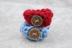 Baby ID Bracelets Red and Blue - Twin Baby Anklets - adjustable by EverythingPrecious on Etsy