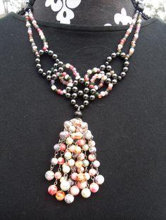 bead explosion weaved necklace  $16.95  www.etsy.com/shop/meandjpsjewelry
