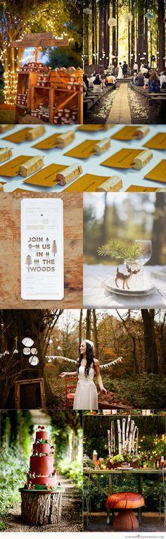 Inspiration for a Woodland Wonderland Wedding! Wedding Events, Wedding Reception, Our Wedding, Dream Wedding, Wedding Things, Perfect Wedding, Wedding Stuff, Weddings, Enchanted Forest Wedding