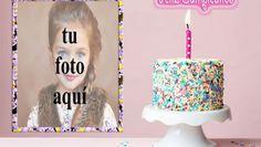 feliz cumpleaños con marco de fotos de pastel crujiente Birthday Card With Name, Happy Birthday Frame, Birthday Frames, Birthday Candles, Birthday Cake, Candy, Jun, Diana, Desserts