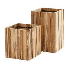 4 Seasons Outdoor Miguel Plantenbak Medium Cube, Seasons, Wood, Plants, Outdoor, Medium, Outdoors, Woodwind Instrument, Seasons Of The Year