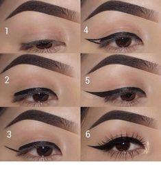 30 Eye Makeup Looks That'll Blow You Away – Page 7 of 30 – Ninja Cosmico … – 2019 – Make-Up Hacks Prom Eye Makeup, Eye Makeup Steps, Eyebrow Makeup, Lip Makeup, Beauty Makeup, Highlighter Makeup, Makeup Geek, Bridal Makeup, Makeup Art