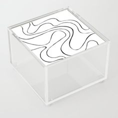 Ebb and Flow 2 - Black and White Acrylic Box by laec | Society6 Good Advice For Life, Storage Places, White Acrylics, Acrylic Box, Flow, Black And White, Store, Black White, Storage