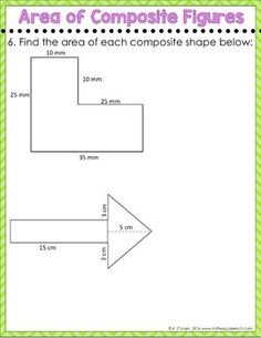 Area of Composite Figures Digital Math Notes by To the Square Inch- Kate Bing Coners | Teachers Pay Teachers