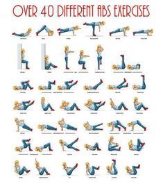 Over 40 Different abs Exercise