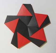 DSC04607.JPG - virág címer összecsukható egyszerű origami, papír Játék