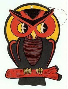 vintage halloween owl cut out - Halloween Vintage Decorations
