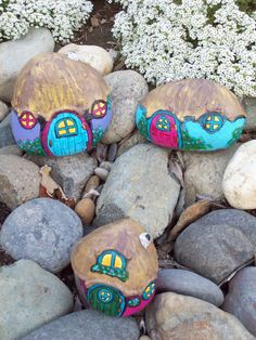 Rock Painting Gnome Home