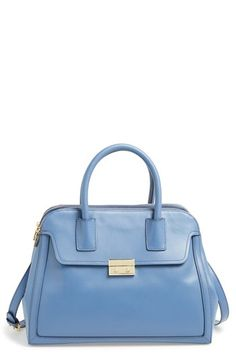 Tory Burch 'Elise' Leather Satchel available at #Nordstrom {Much less expensive than the Michael Kors, $595.  Lovely color  unique shape.}