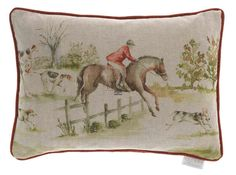 Fox Hunting Trophy Belgian Tapestry Cushion - A Bentley Cushions British Home, British Country, Cushions For Sale, Printed Cushions, Tapestry Bag, Tapestry Wall Hanging, Bolster Cushions, Pillows, Horse Gifts