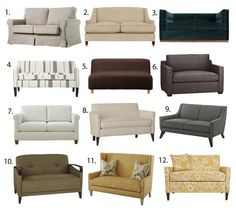Small Space Seating: Sofas & Loveseats Under 60 Inches Wide