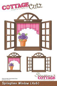 CottageCutz Springtime Window (4x6)