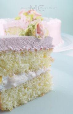 Bizcocho Blanco, White Cake Recipe - Maris Cakes Fluffy, moist, and delicious white cake!