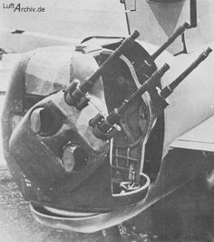 "He 177 - experimental Hecklafette HL 131V ""quadmount"" manned tail turret, with four MG 131 machine guns, fitted to the V32 to V34 prototypes in the spring and summer of 1943.  Did not make it to production status."